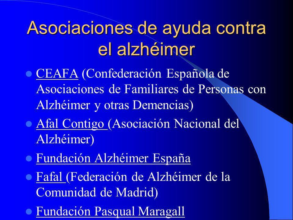 Asociaciones de ayuda contra el alzhéimer CEAFA (Confederación Española de Asociaciones de Familiares de Personas con Alzhéimer y otras Demencias) Afa