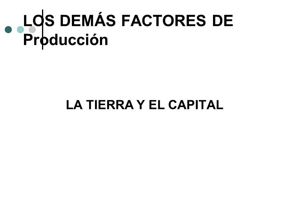 LOS DEMÁS FACTORES DE Producción LA TIERRA Y EL CAPITAL