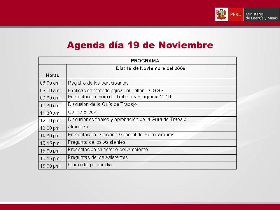 Agenda día 19 de Noviembre