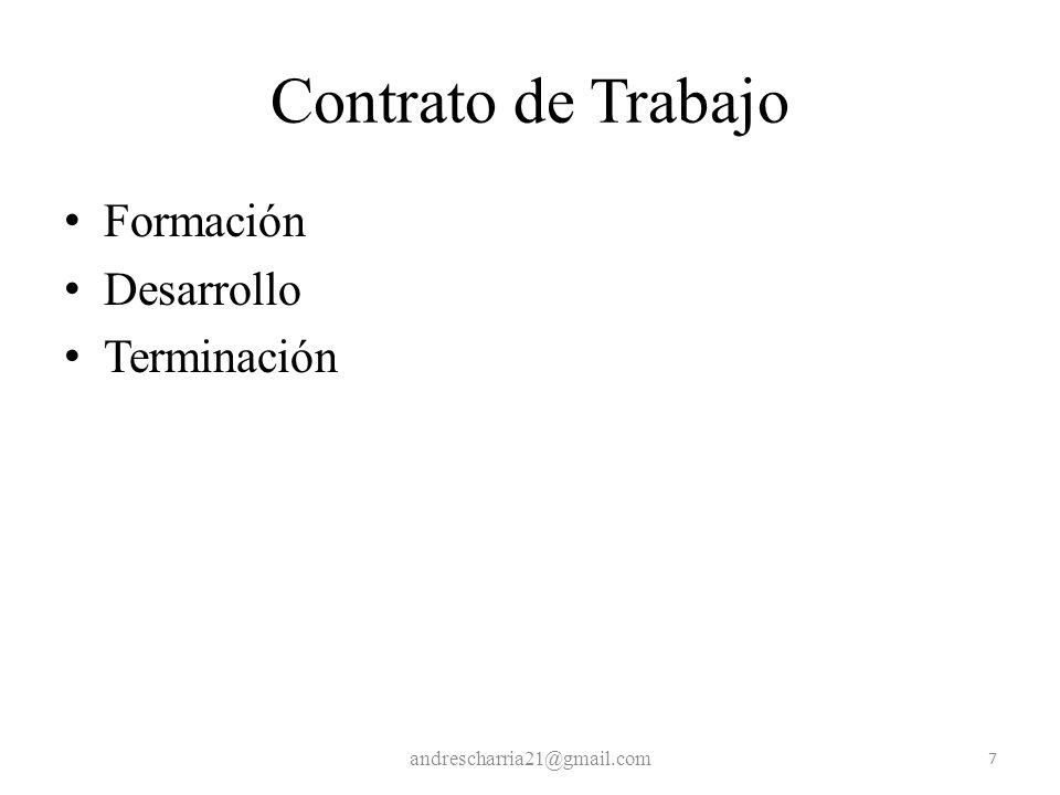 Contrato de Trabajo Formación Desarrollo Terminación andrescharria21@gmail.com 7