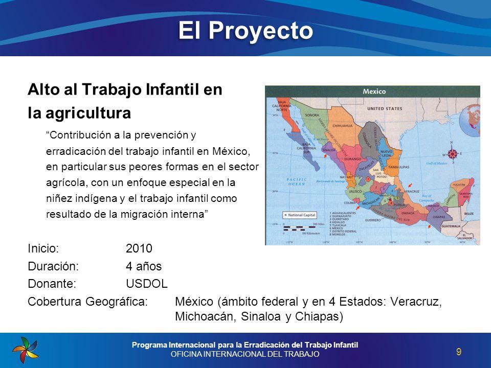 Alto al Trabajo Infantil en la agricultura Contribución a la prevención y erradicación del trabajo infantil en México, en particular sus peores formas