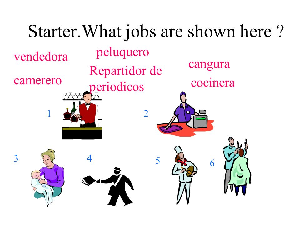 Starter.What jobs are shown here .