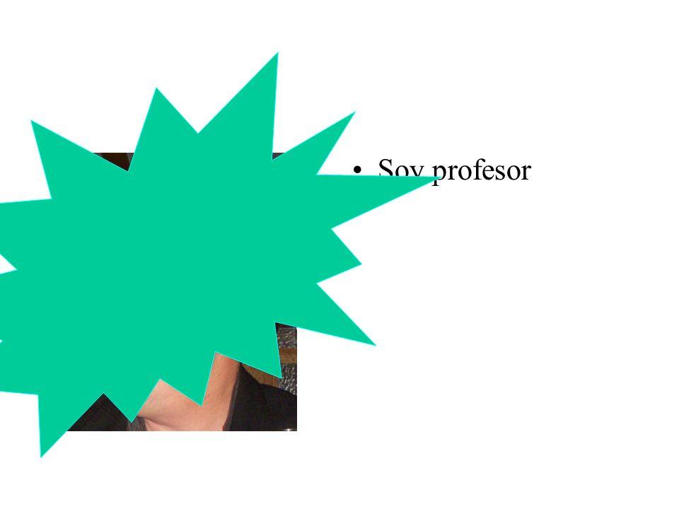 Soy profesor