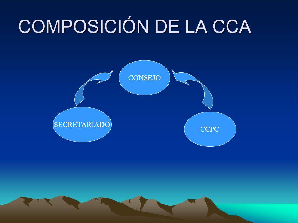 COMPOSICIÓN DE LA CCA SECRETARIADO CONSEJO CCPC