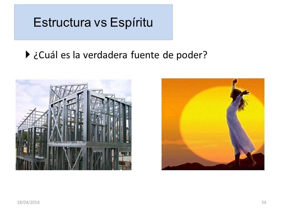 Estructura vs Espíritu ¿Cuál es la verdadera fuente de poder? 18/04/201434