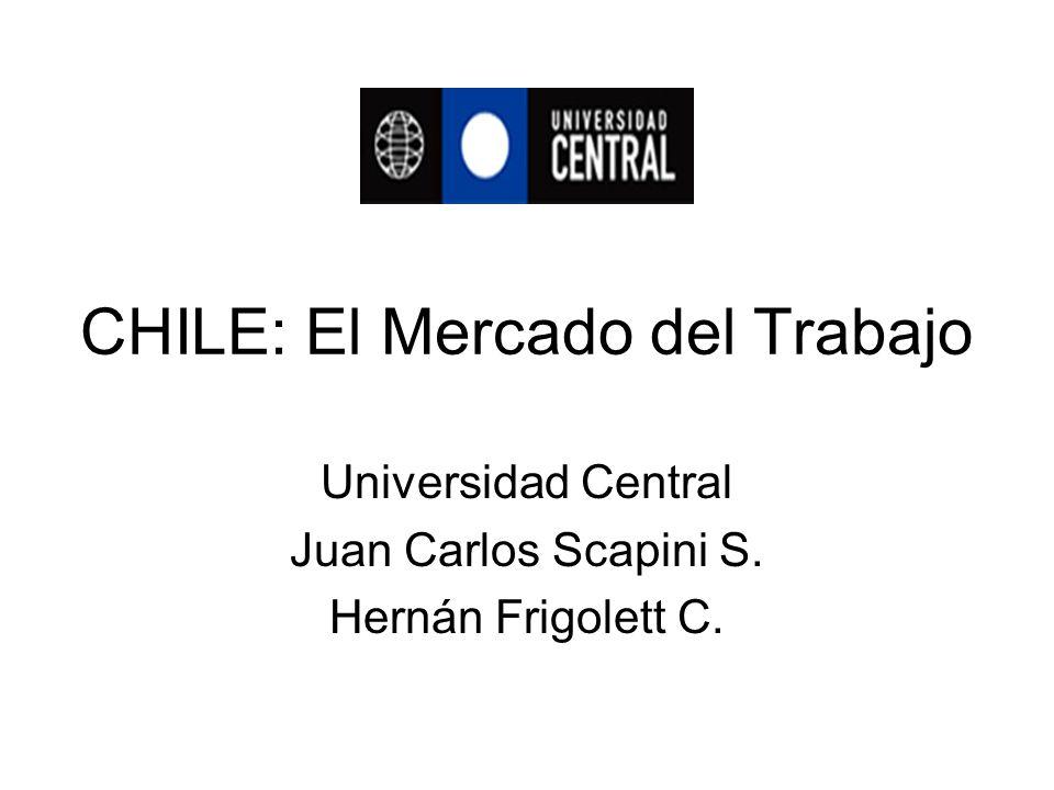CHILE: El Mercado del Trabajo Universidad Central Juan Carlos Scapini S. Hernán Frigolett C.
