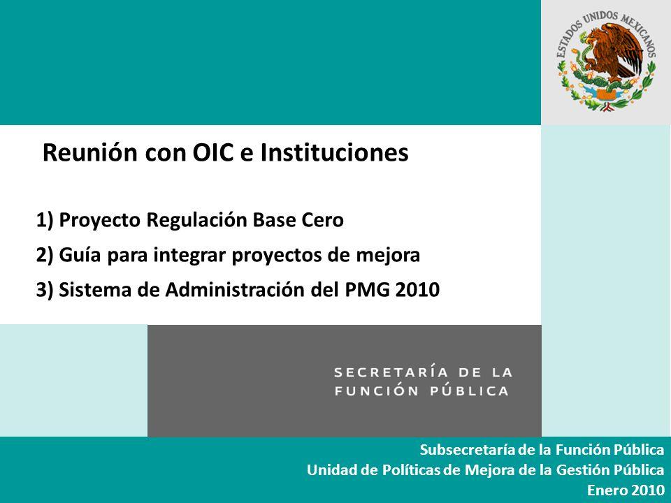 Transformación para lograr un gobierno centrado en el ciudadano Subsecretaría de la Función Pública Unidad de Políticas de Mejora de la Gestión Públic