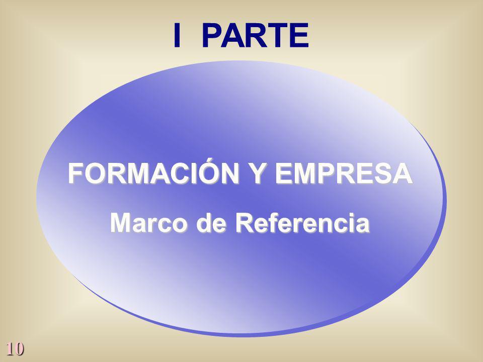 10 I PARTE FORMACIÓN Y EMPRESA Marco de Referencia FORMACIÓN Y EMPRESA Marco de Referencia