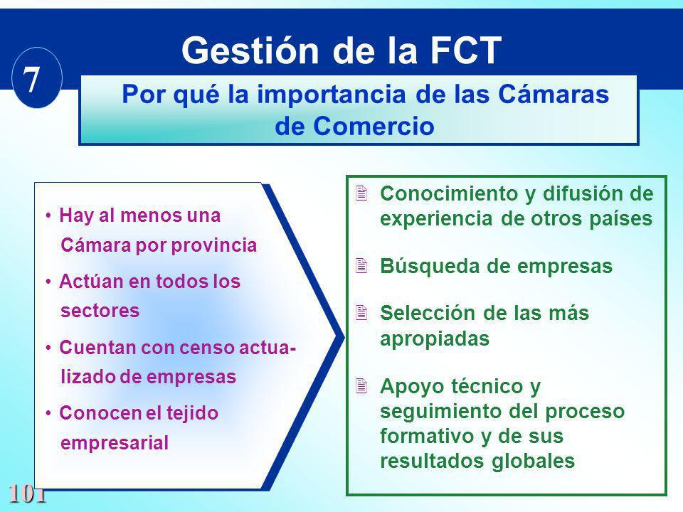 101 Hay al menos una Cámara por provincia Actúan en todos los sectores Cuentan con censo actua- lizado de empresas Conocen el tejido empresarial Hay a