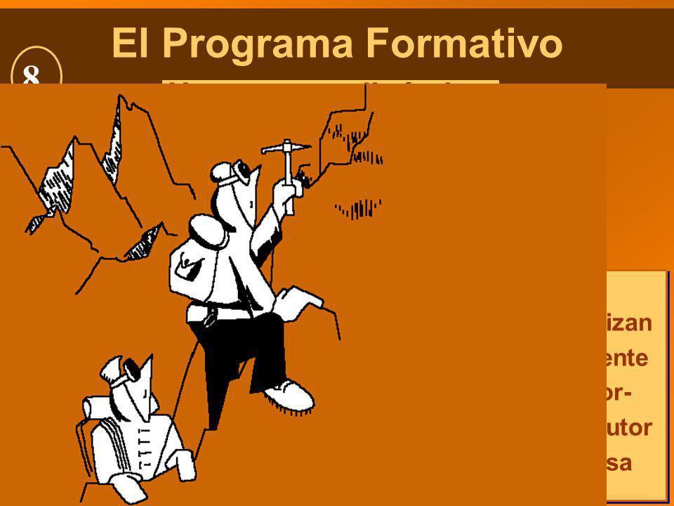 106 El Programa Formativo Un proceso dinámico Planificado Organizado y secuenciadoEjecutado Con método Evaluado Evaluado Con criterios predeterminados