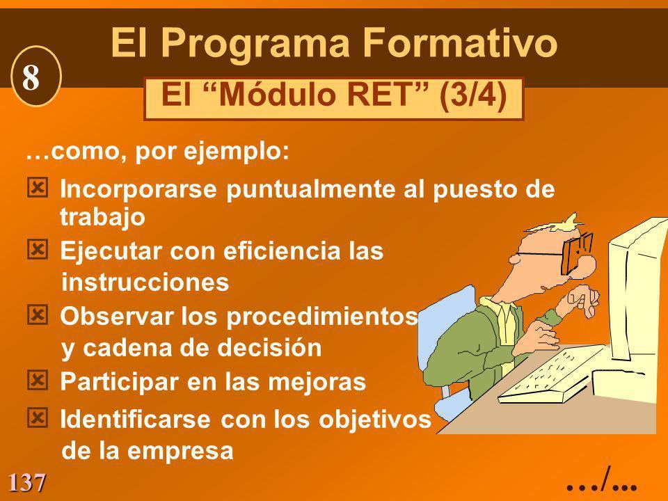 137 …como, por ejemplo: ý Incorporarse puntualmente al puesto de trabajo ý Ejecutar con eficiencia las instrucciones ý Observar los procedimientos y c