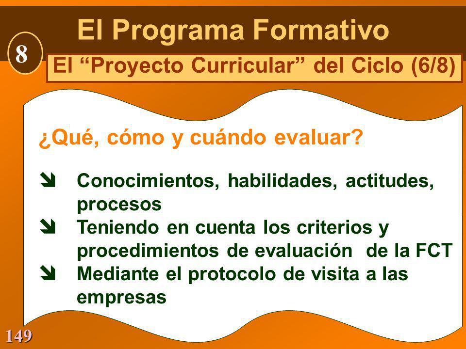 149 ¿Qué, cómo y cuándo evaluar? Conocimientos, habilidades, actitudes, procesos Teniendo en cuenta los criterios y procedimientos de evaluación de la