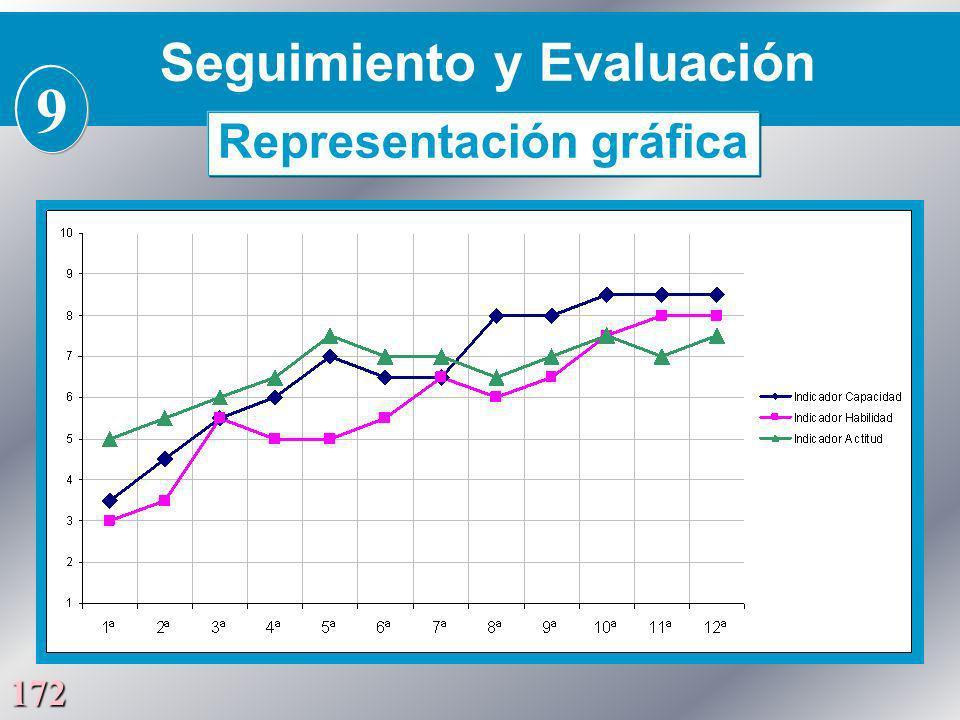 172 Seguimiento y Evaluación 9 Representación gráfica