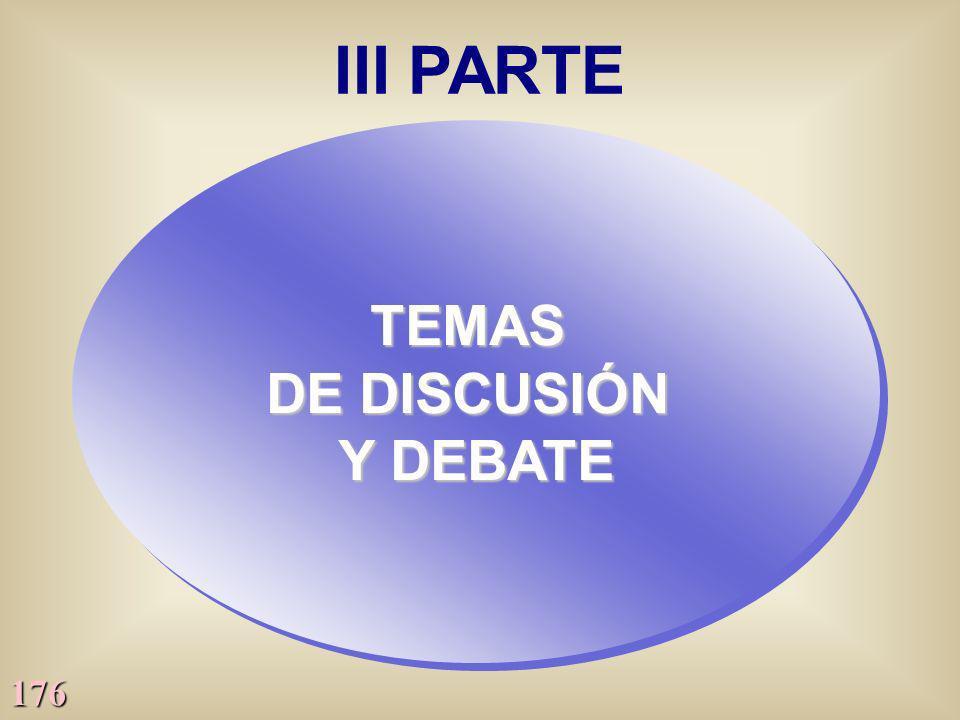 176 III PARTE TEMAS DE DISCUSIÓN Y DEBATE TEMAS DE DISCUSIÓN Y DEBATE