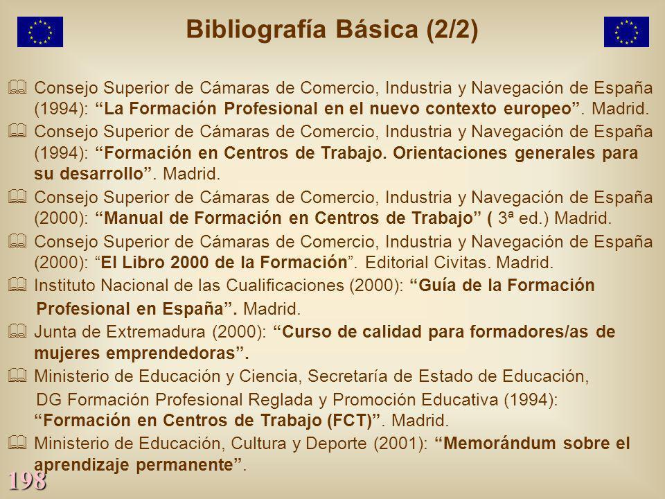 198 Consejo Superior de Cámaras de Comercio, Industria y Navegación de España (1994): La Formación Profesional en el nuevo contexto europeo. Madrid. C