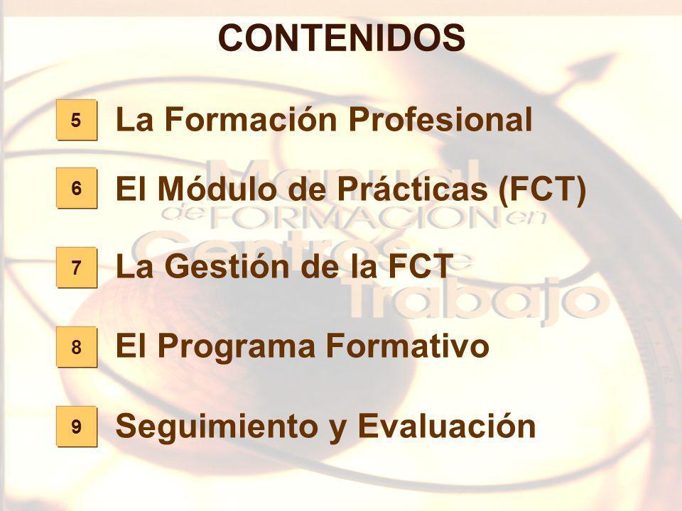 53 9 8 7 6 5 CONTENIDOS La Formación Profesional El Módulo de Prácticas (FCT) La Gestión de la FCT El Programa Formativo Seguimiento y Evaluación