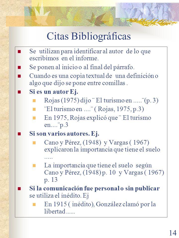 15 Bibliografía Recuerde ordenada alfabéticamente según el apellido del autor.