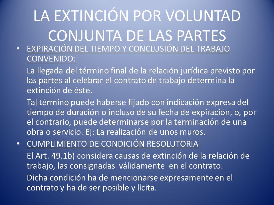 Efectos: La resolución administrativa tendrá efectos desde la fecha en la que se produjo el hecho causante de la extinción.