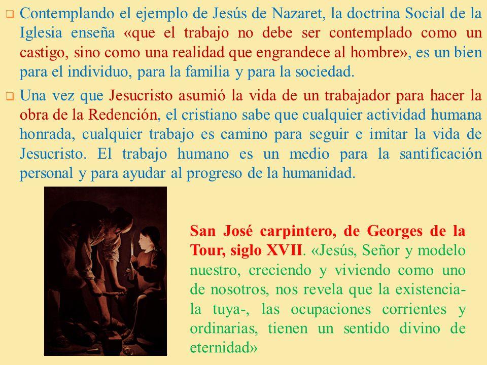 2. VISION CRISTIANA DEL TRABAJO La antropología cristiana ofrece razones de la dignidad del trabajo: Dios puso al ser humano en el jardín del Edén «pa