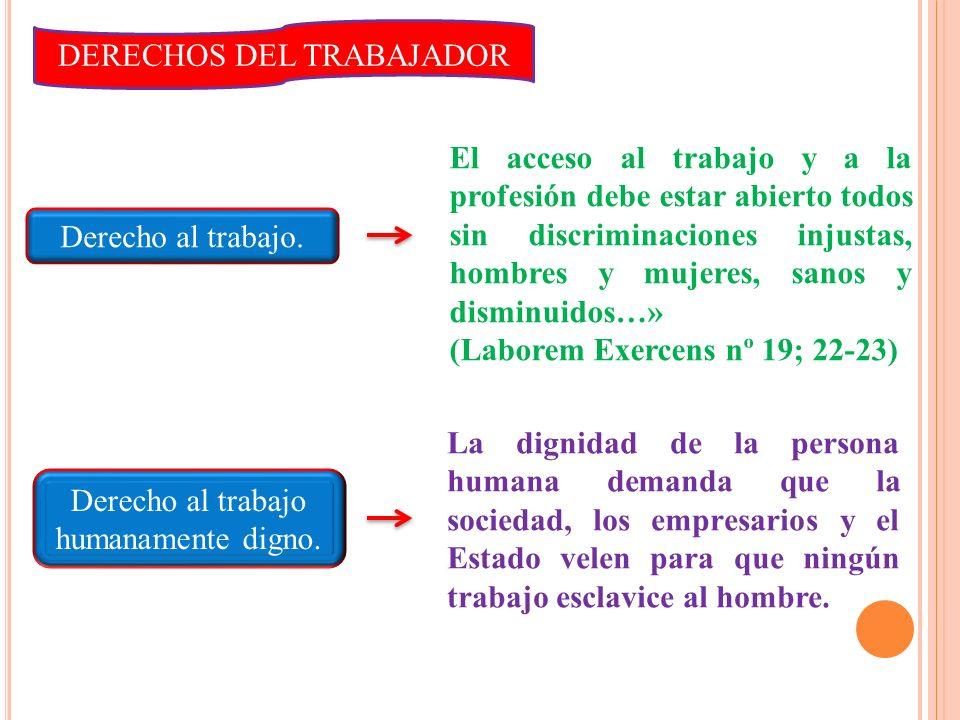 Las enseñanzas de León XIII en Rerum Novarum, el contrato de trabajo ha de ser entendido con unas exigencias propias de la virtud de la justicia. Ante