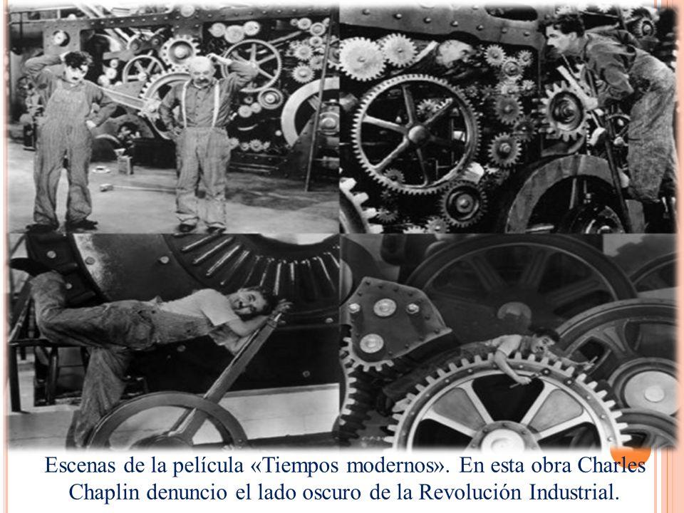 Escenas de la película «Tiempos modernos».