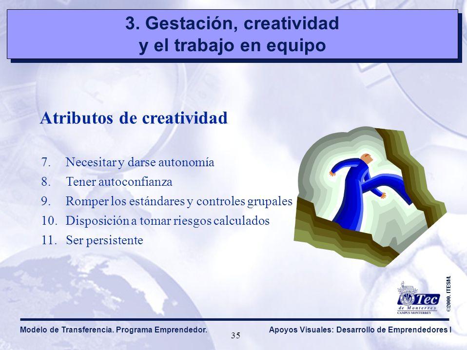 3.Gestación, creatividad y el trabajo en equipo 3.