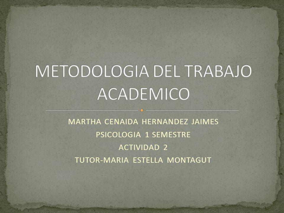 MARTHA CENAIDA HERNANDEZ JAIMES PSICOLOGIA 1 SEMESTRE ACTIVIDAD 2 TUTOR-MARIA ESTELLA MONTAGUT