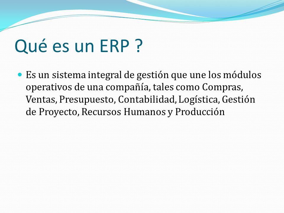 Qué es un ERP .
