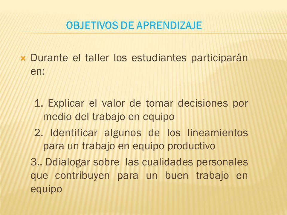 20Conceptualización -Micro conferencia, sobre las cualidades más importantes para la realización del trabajo en equipo.