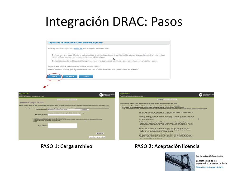 PASO 1: Carga archivo PASO 2: Aceptación licencia