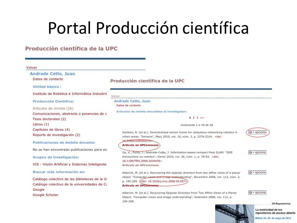 Portal Producción científica