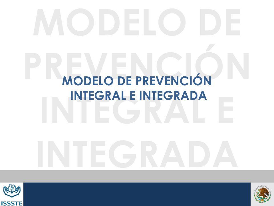 MODELO DE PREVENCIÓN INTEGRAL E INTEGRADA MODELO DE PREVENCIÓN INTEGRAL E INTEGRADA