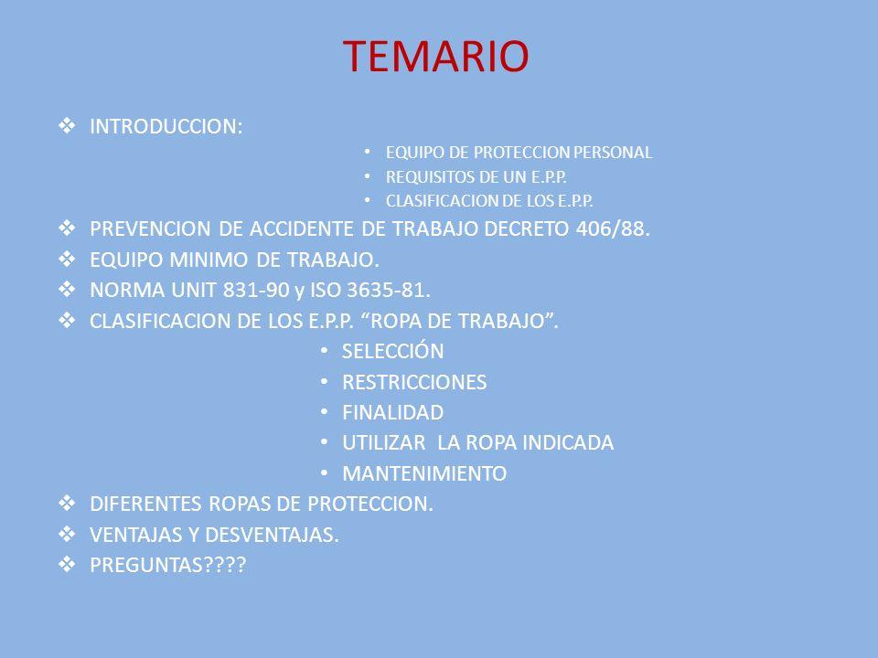 NORMA UNIT 831-90 ISO 3635-81 PERIMETRO DE LA MANO: Es el max.