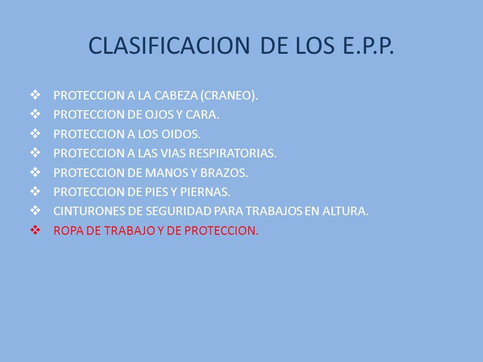 VENTAJAS DE LOS E.P.P.NOS PROTEJE DE RIESGOS EN EL TRABAJO.