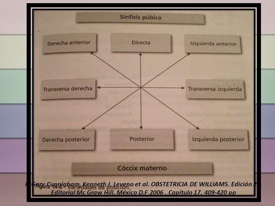 Mentón se acerca a tórax fetal Diámetro occipitofrontal Diámetro suboccipitobregmático Williams obstetricia, F.