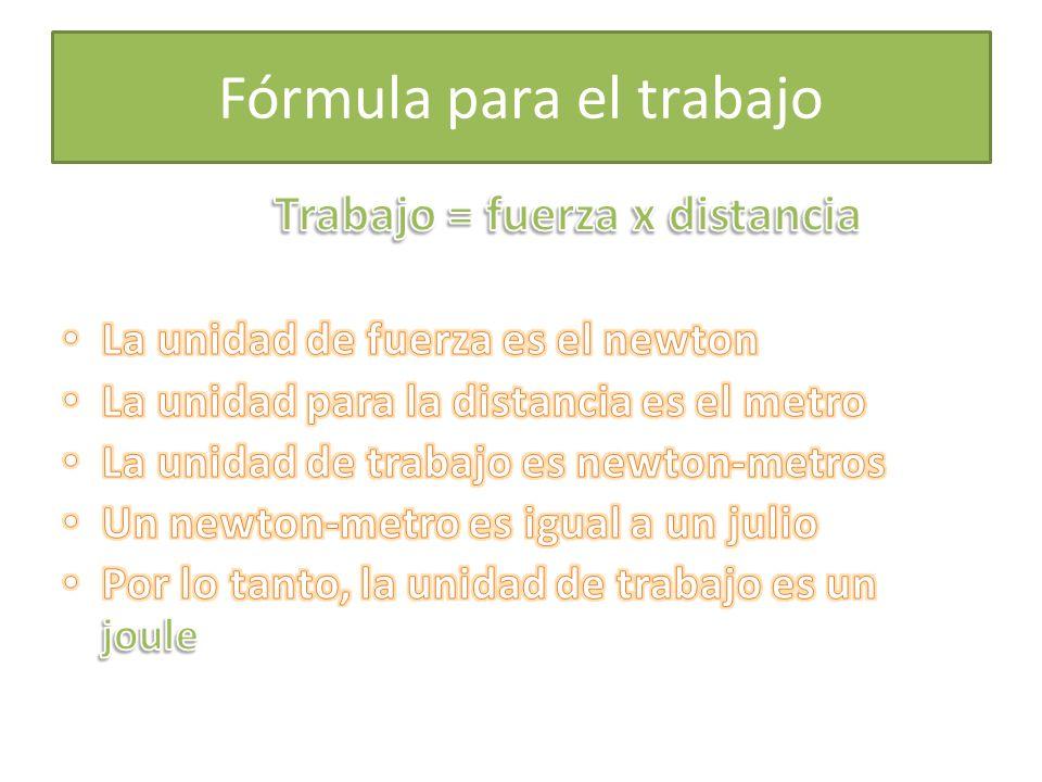 Fórmula para el trabajo
