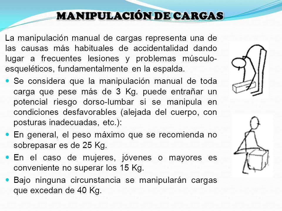 La manipulación manual de cargas representa una de las causas más habituales de accidentalidad dando lugar a frecuentes lesiones y problemas músculo-