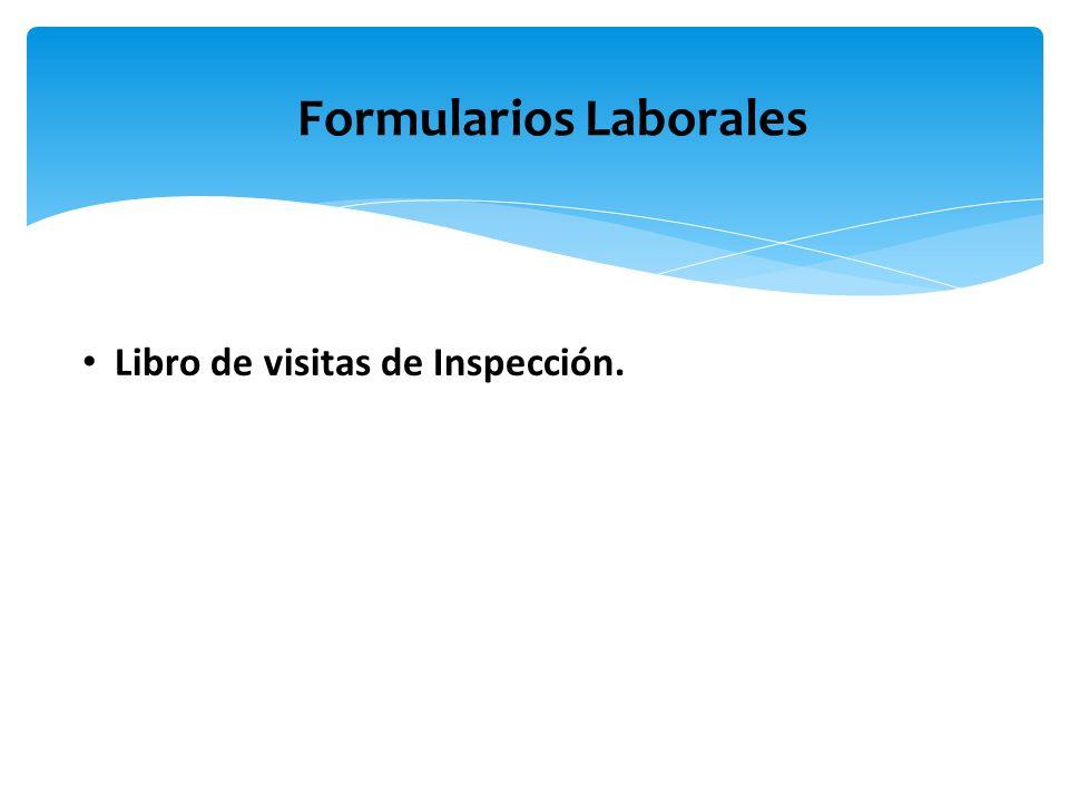 Libro de visitas de Inspección. Formularios Laborales