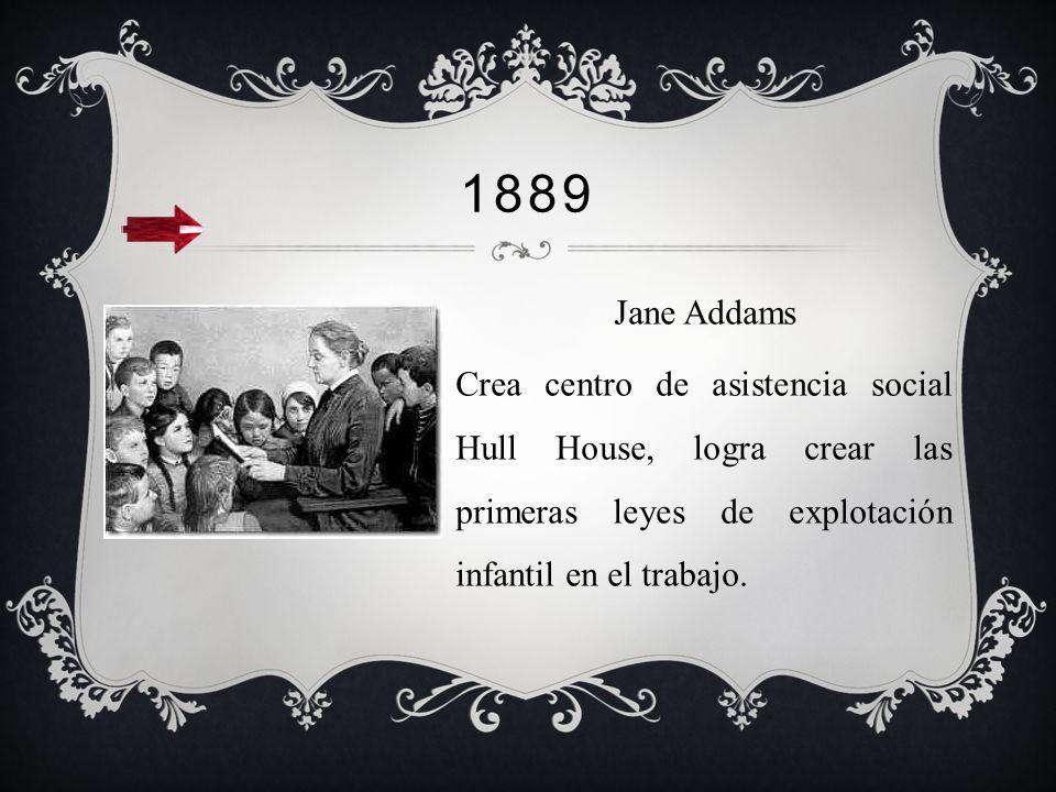 1869 Se funda en londres la Charity Organization Society, C.O.S. con el fin de evitar que se les siga prestando ayuda a los indigentes, favoreciendo s