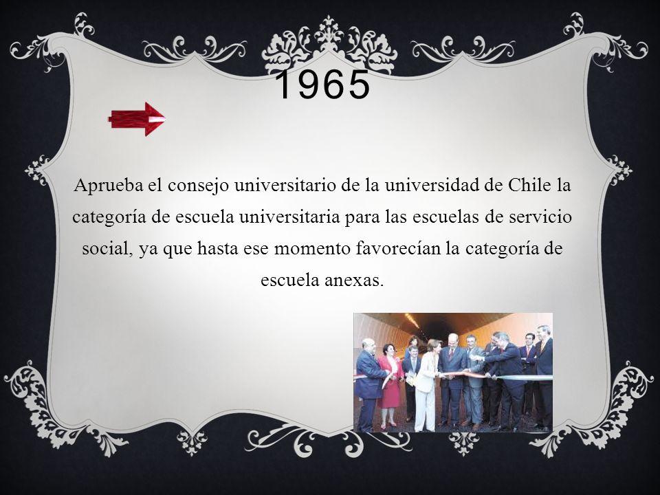 1964 En particular en Chile, se da la trasformación de políticas publicas, con mayor fuerza y evidencia durante la presidencia de Frei Montalva, donde