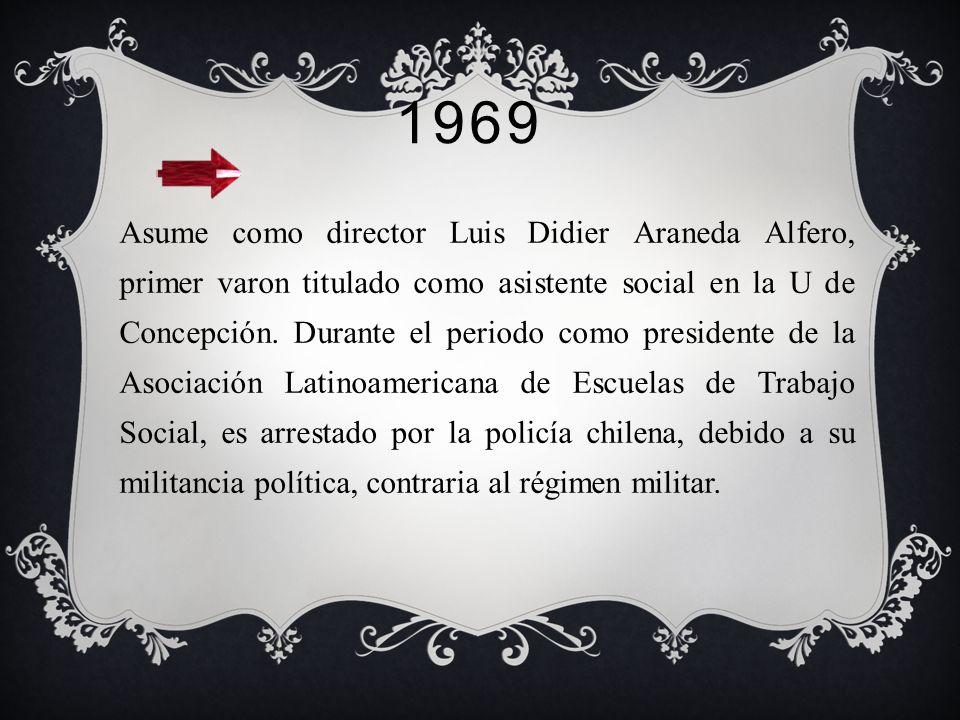 1968- 1969 Asume el directorio de la escuela en la U de Concepción, el uruguayo Herman C. Kruse, uno de los precursores de la re conceptualización.