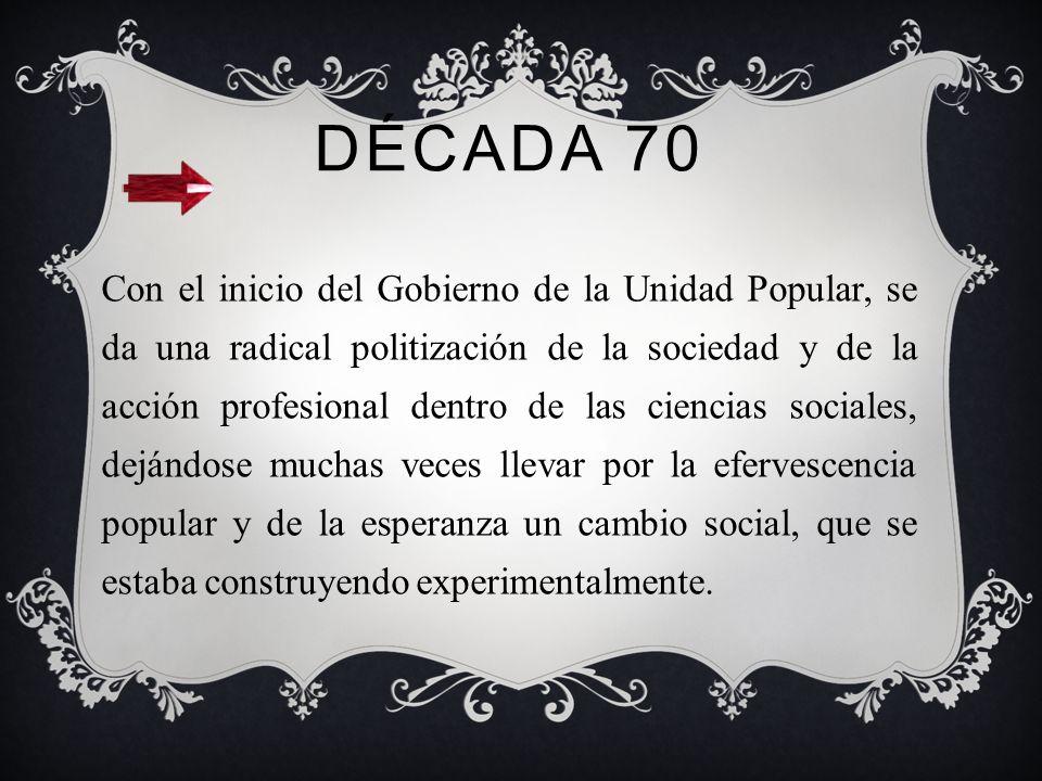 1969 Asume como director Luis Didier Araneda Alfero, primer varon titulado como asistente social en la U de Concepción. Durante el periodo como presid