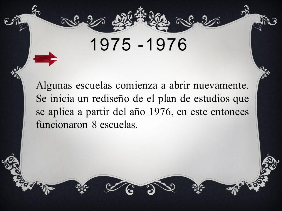 1973 Previo al golpe militar el número de escuelas de trabajo social era de 12. Dichas escuelas, entusiasmadas por un espíritu de cambios de la época
