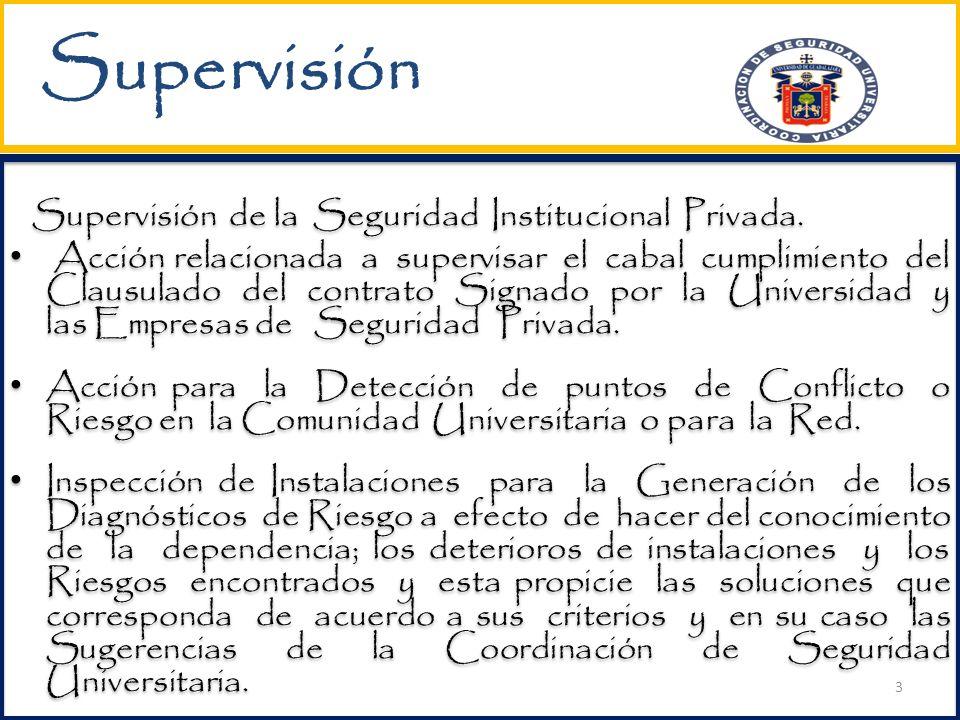 Supervisión Supervisión de la Seguridad Institucional Privada.