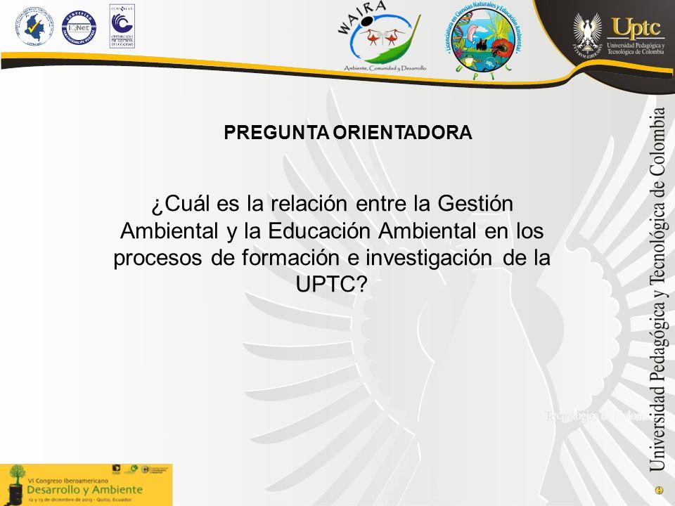 ¿Cuál es la relación entre la Gestión Ambiental y la Educación Ambiental en los procesos de formación e investigación de la UPTC.