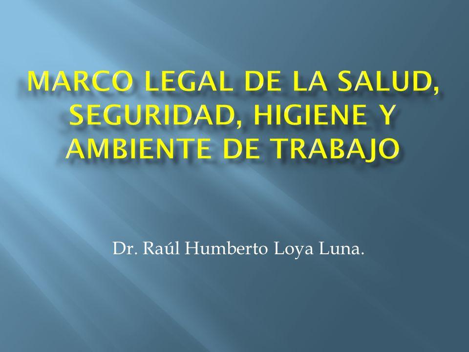 Dr. Raúl Humberto Loya Luna.