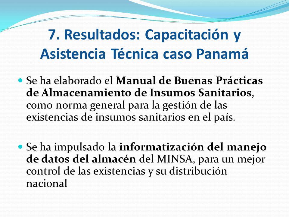 Se ha elaborado el Manual de Buenas Prácticas de Almacenamiento de Insumos Sanitarios, como norma general para la gestión de las existencias de insumo