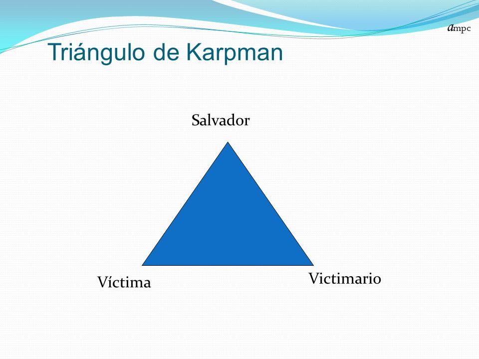 Triángulo de Karpman a mpc Salvador Víctima Victimario