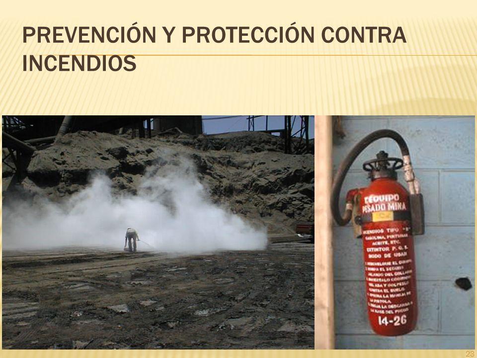 23 PREVENCIÓN Y PROTECCIÓN CONTRA INCENDIOS