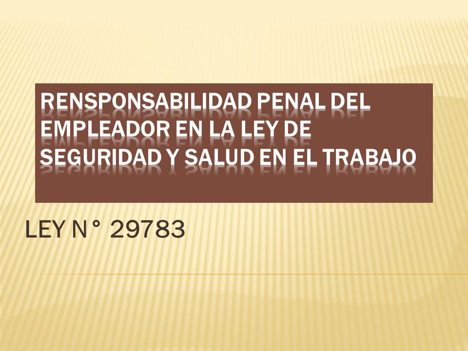 LEY N° 29783